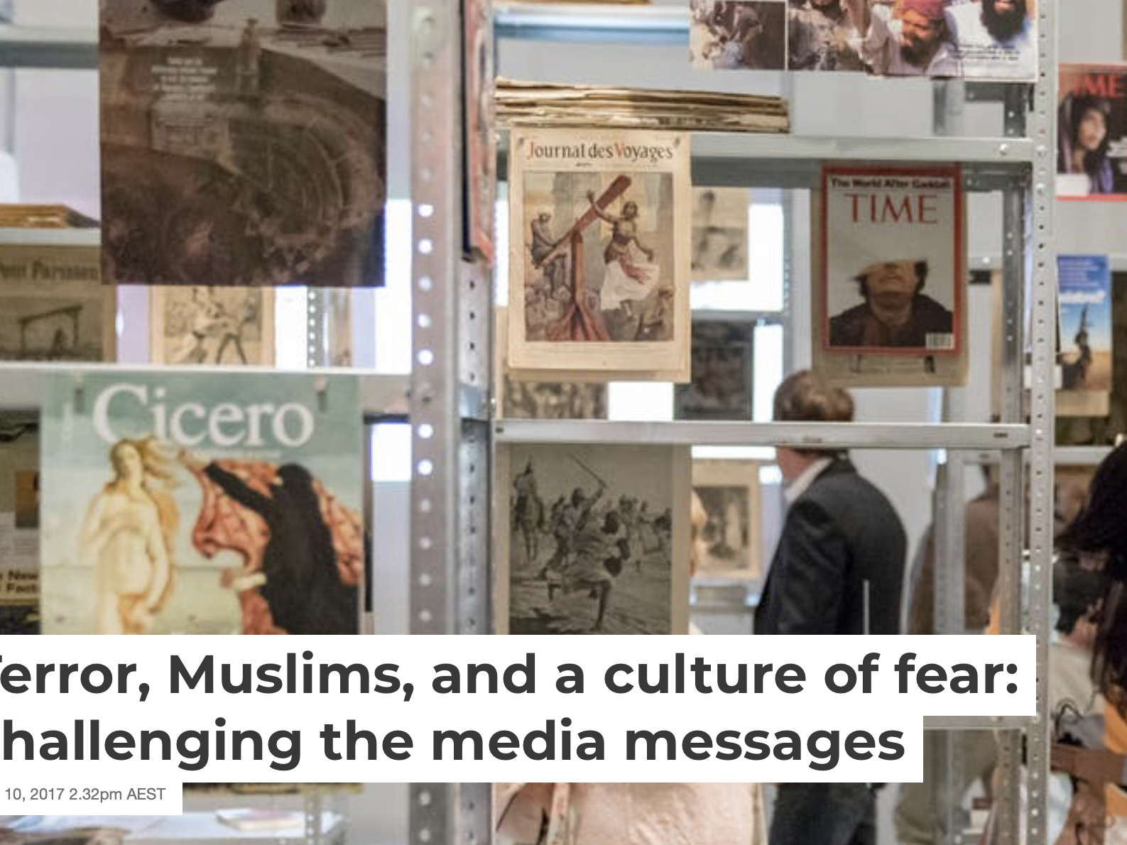 Terror, Muslims, and  a culture of fear