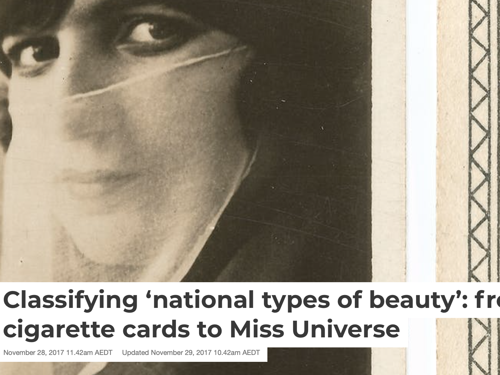 Classifying 'national types of beauty'
